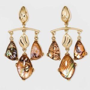 Abalone Triple Drop Earrings - A New Day™